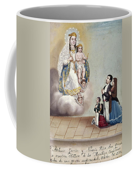 1879 Coffee Mug featuring the photograph Bustos: Worship, 1879 by Granger