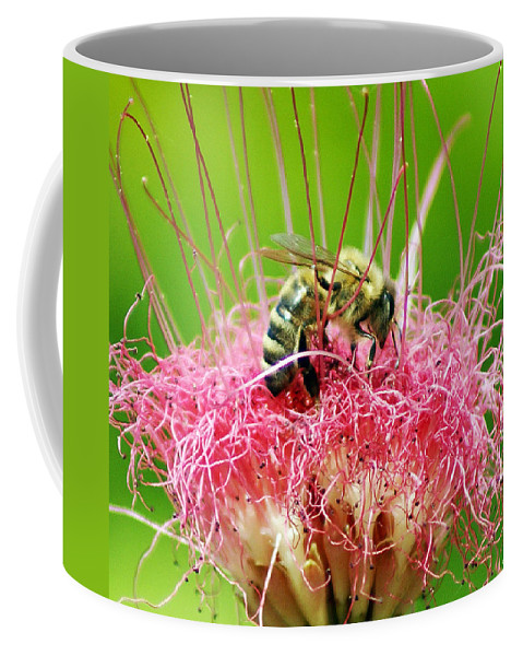 Nature Coffee Mug featuring the photograph Busy Bee by Holly Kempe