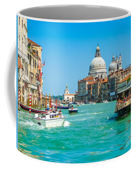 Adriatic Coffee Mug featuring the photograph Busy Canal Grande In Venice by JR Photography