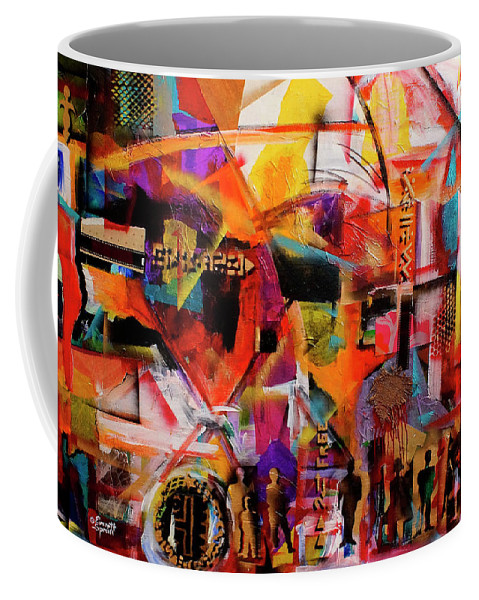 Everett Spruill Coffee Mug featuring the painting But still like air, we rise by Everett Spruill