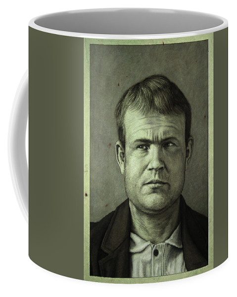 Butch Cassidy Coffee Mug featuring the painting Butch Cassidy by James W Johnson