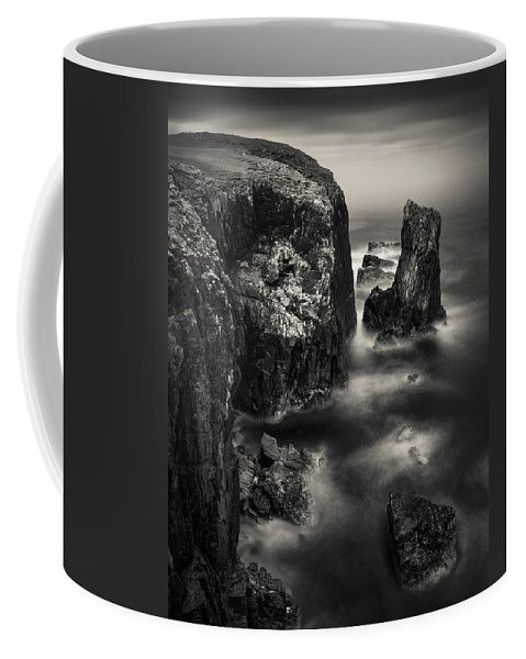 Butt Of Lewis Coffee Mug featuring the photograph Butt Of Lewis Cliffs by Dave Bowman