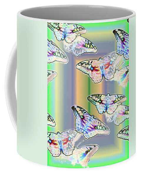 Butterflies Coffee Mug featuring the photograph Butterflies In The Vortex by Tim Allen