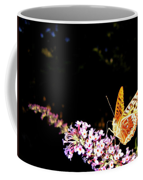 Butterfly Coffee Mug featuring the photograph Butterfly Banquet 1 by Will Borden
