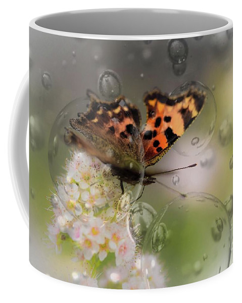 Butterfly Coffee Mug featuring the photograph Butterfly Bubbles by Sherman Perry