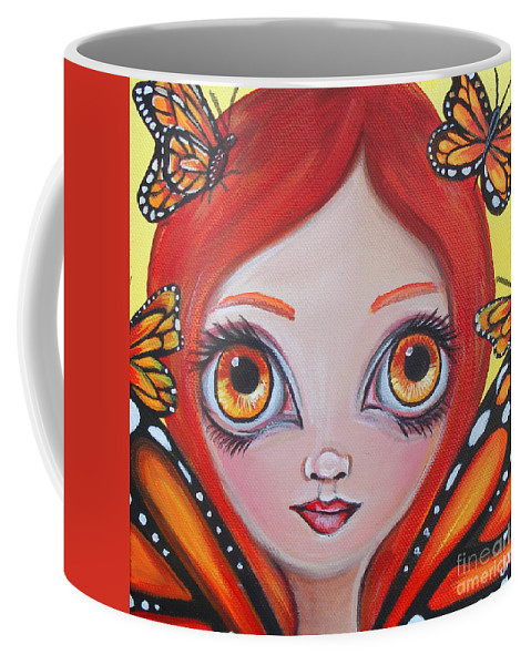 Butterflies Coffee Mug featuring the painting Butterfly Fairy by Jaz Higgins