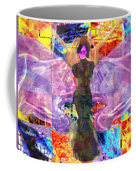 Butterfly Coffee Mug featuring the digital art Butterfly Fantasy by Seth Weaver