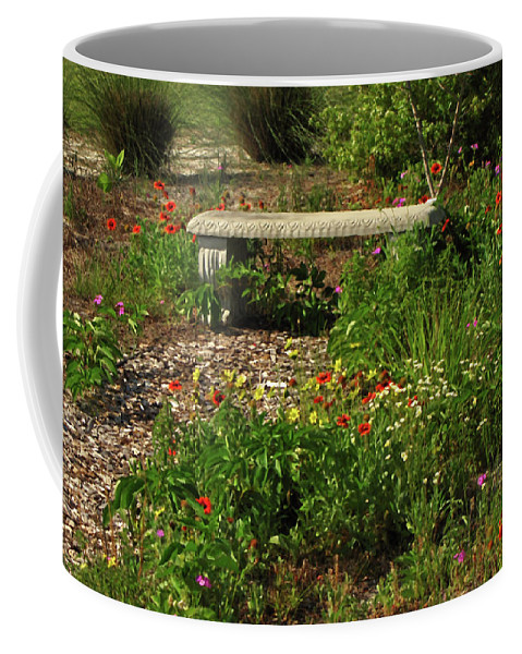 Nature Coffee Mug featuring the photograph Butterfly Garden by Peg Urban