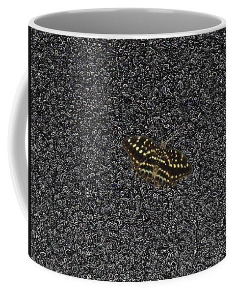 Butterfly Coffee Mug featuring the photograph Butterfly On Stone by Tim Allen