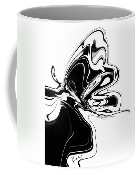 Abstract Coffee Mug featuring the digital art Butterfly by Rabi Khan