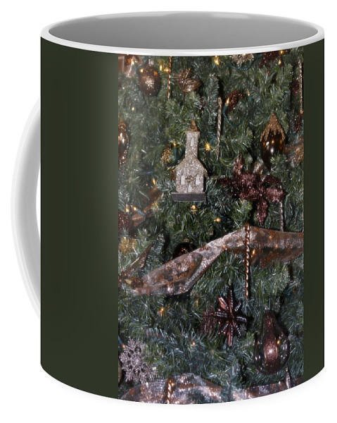 Christmas Coffee Mug featuring the photograph Butterfly Tree Detail 2 Fashions For Evergreens Hotel Roanoke 2009 by Teresa Mucha