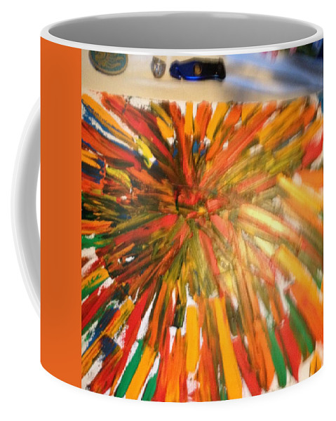 Coffee Mug featuring the painting Bullet Proof Hurricane Glass One by Ronald Carlino