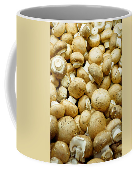 Button Mushrooms Coffee Mug featuring the photograph Button Mushrooms by Robert Meyers-Lussier