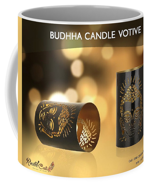 Home Decor Coffee Mug featuring the photograph Buy Attractive Buddha Candle Votive From Rustik Craft by Sangeeta Sharma