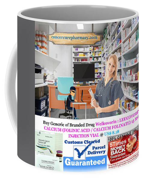 Buy Wellcovorin - Leucovorin Calcium 15 Mg Injection Vial @ Us$ 8.18 Coffee Mug featuring the photograph Buy Wellcovorin by S Ja