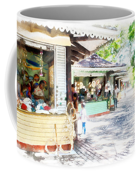 Shops Coffee Mug featuring the photograph Buying Items In These Shops On The Street by Ashish Agarwal