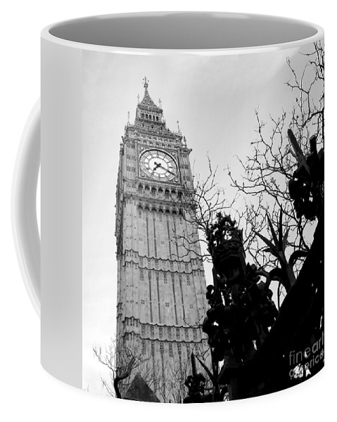 Big Ben Coffee Mug featuring the photograph Bw Big Ben London 2 by Lexa Harpell