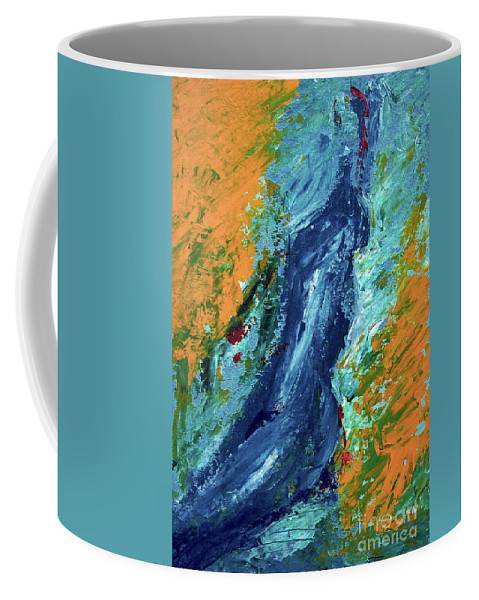 By Herself Coffee Mug featuring the painting By Herself 2 by Jasna Dragun