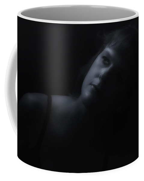 Black And White Coffee Mug featuring the photograph By Moonlight by Donna Blackhall