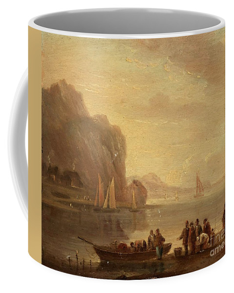 Charles-fran�ois Grenier De La Croix (kallad Lacroix De Marseille) In The Manner Of The Artist Coffee Mug featuring the painting By The Coast by Celestial Images
