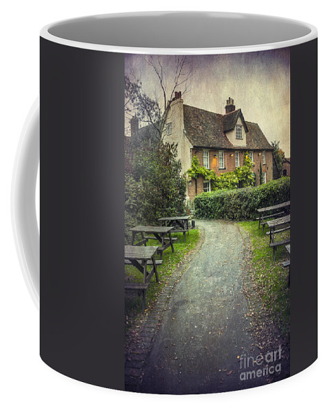 Bench Coffee Mug featuring the photograph By The End Of A Road by Svetlana Sewell