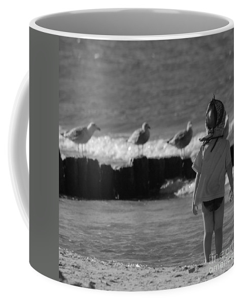 Child Coffee Mug featuring the photograph By The Sea by Angel Tarantella