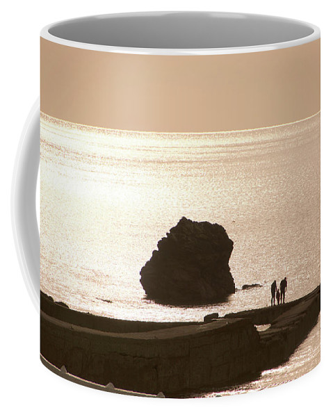 Couple Coffee Mug featuring the photograph By The Sea by Phil Child