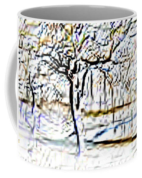 Tree Coffee Mug featuring the photograph By Waters Edge by Tim Allen