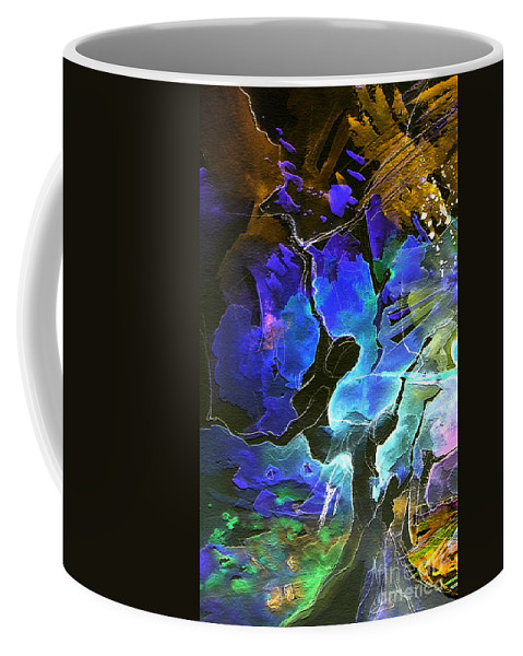 Miki Coffee Mug featuring the painting Bye by Miki De Goodaboom