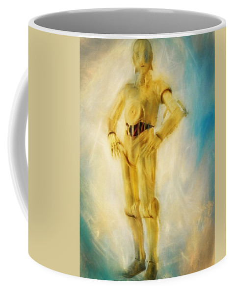 C3po Coffee Mug featuring the painting C-3po by Dan Sproul
