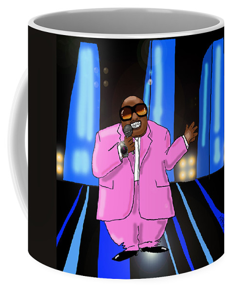 Musician Painting Coffee Mug featuring the digital art C-lo Pink by Kev Moore