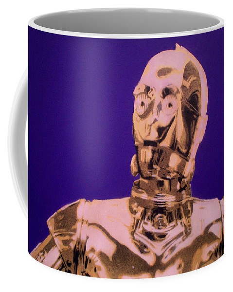 Star Wars Coffee Mug featuring the painting C3p0 by Gary Hogben