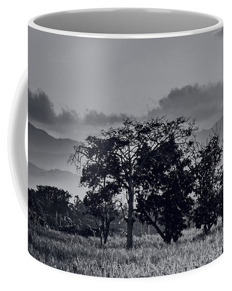 Black And White Coffee Mug featuring the photograph Caballeria El Salvador by Totto Ponce
