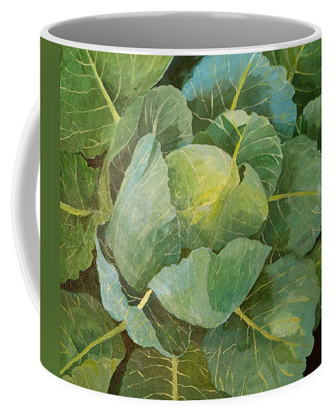 Cabbage Coffee Mug featuring the painting Cabbage by Jennifer Abbot