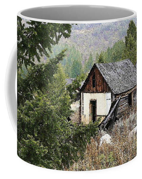 Cabin Coffee Mug featuring the photograph Cabin In Need Of Repair by Nelson Strong