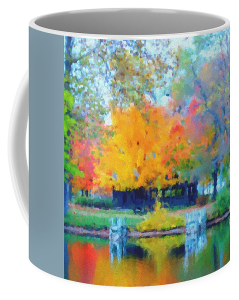 Digital Photograph Coffee Mug featuring the photograph Cabin In The Park II by David Lane