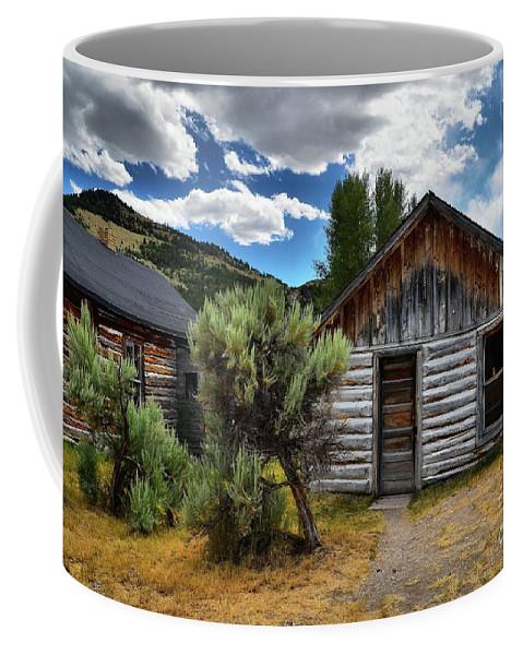 Cabin Coffee Mug featuring the photograph Cabin In The Sagebrush by Lauren Leigh Hunter Fine Art Photography
