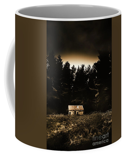 Woods Coffee Mug featuring the photograph Cabin In The Woodlands by Jorgo Photography - Wall Art Gallery