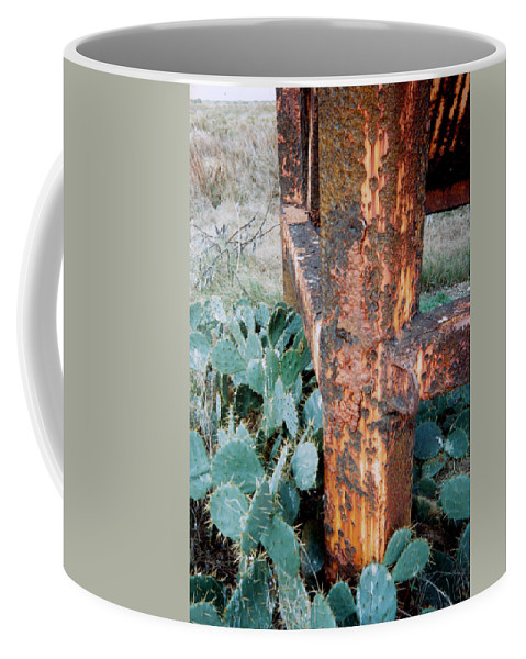 Cactus Rust Pitted Coffee Mug featuring the photograph Cactus And Rust by Cindy New