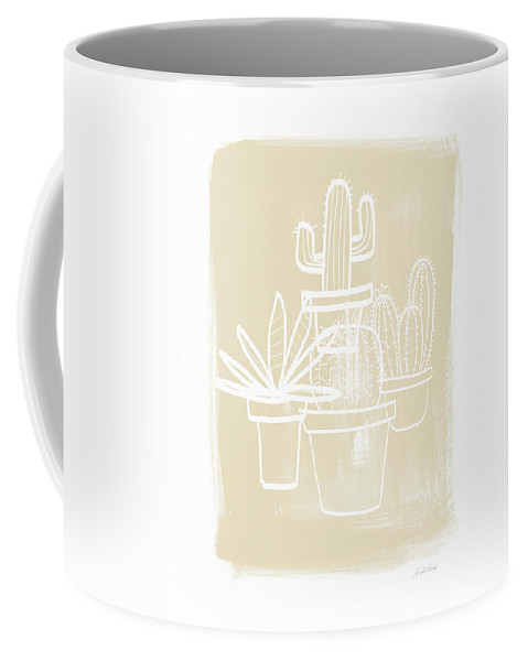 Cactus Coffee Mug featuring the painting Cactus In Pots- Art By Linda Woods by Linda Woods