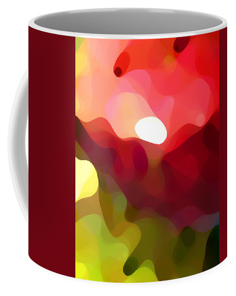 Abstract Art Coffee Mug featuring the painting Cactus Resting by Amy Vangsgard