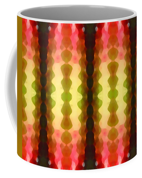 Abstract Painting Coffee Mug featuring the digital art Cactus Vibrations 1 by Amy Vangsgard