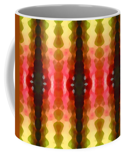 Abstract Coffee Mug featuring the painting Cactus Vibrations 2 by Amy Vangsgard