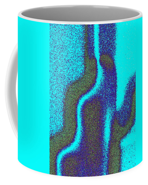 Abstract Coffee Mug featuring the digital art Cactus by Will Borden
