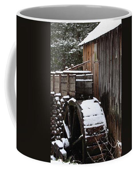 Great Smoky Mountains Coffee Mug featuring the photograph Cades Cove Mill I by Margie Wildblood