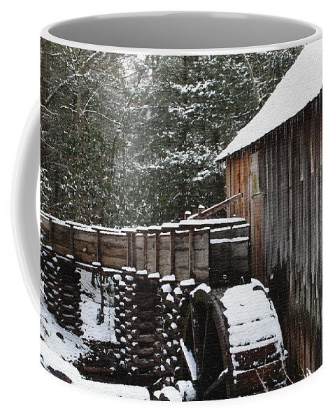 Smoky Mountains Coffee Mug featuring the photograph Cades Cove Mill II by Margie Wildblood