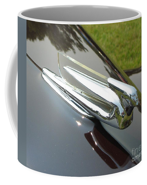 Car Coffee Mug featuring the photograph Cadillac Hood Ornament by Neil Zimmerman