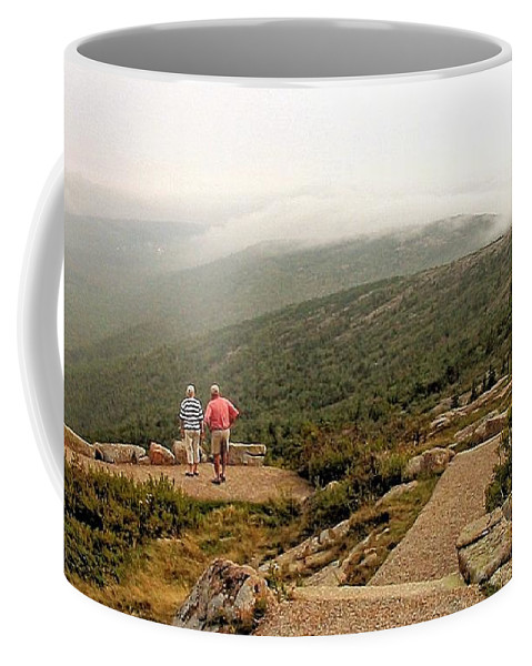 Cadillac Mountain Coffee Mug featuring the photograph Cadillac Mountain View by Robert McCulloch