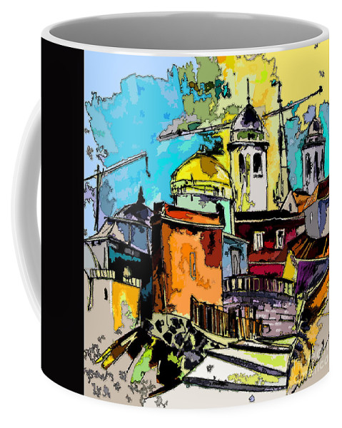 Spain Painting Cadiz Andalusia Coffee Mug featuring the painting Cadiz Spain 02 Bis by Miki De Goodaboom