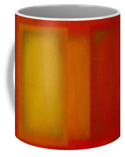 Rothko Coffee Mug featuring the painting Cadmium Lemon by Charles Stuart
